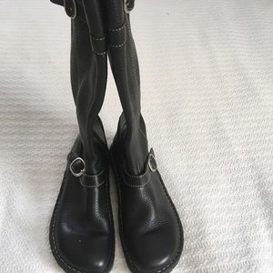 Born knee high women's black leather boots 7.5